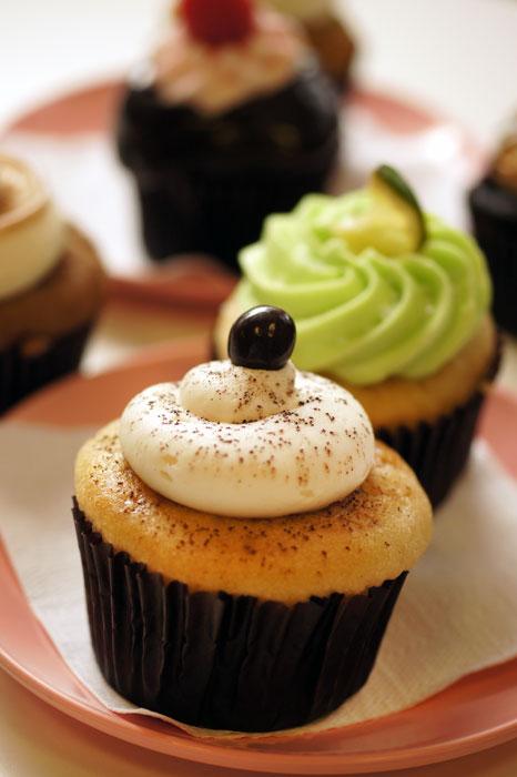 Tirasmisu Cupcake forward, Margaritaville cupcake behind